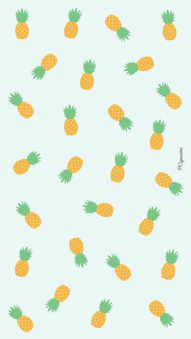 Fond d'écran ananas La Capuciine