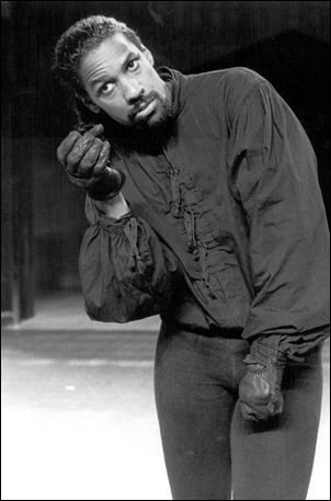 Denzel Washington as Richard III in Richard III at the Public Theatre in Delacourte Theatre in Central Park in New York - 1990