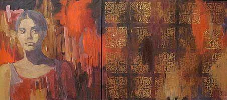 Irina Schuvaloff, Heritage 2008, oil on canvas, 65 x 146