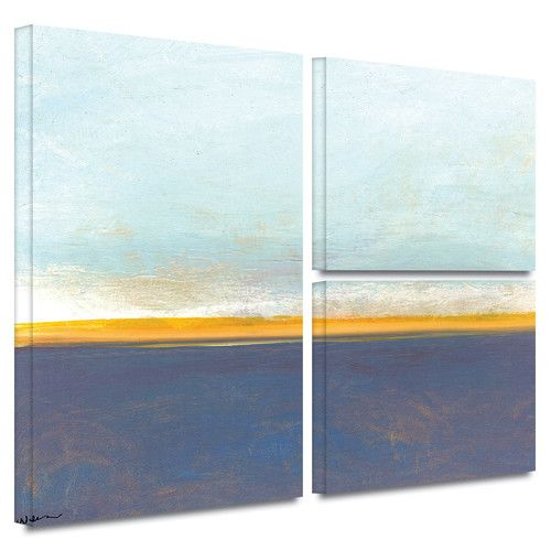 Found it at Wayfair - 'Big Country Sky' by Jan Weiss 3 Piece Painting Print on Wrapped Canvas Set