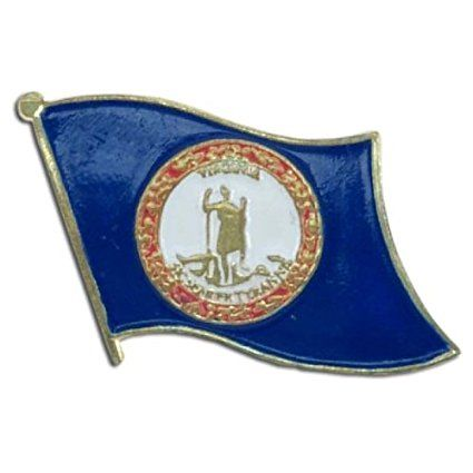 US Flag Store Lapel Pin Virginia Flag