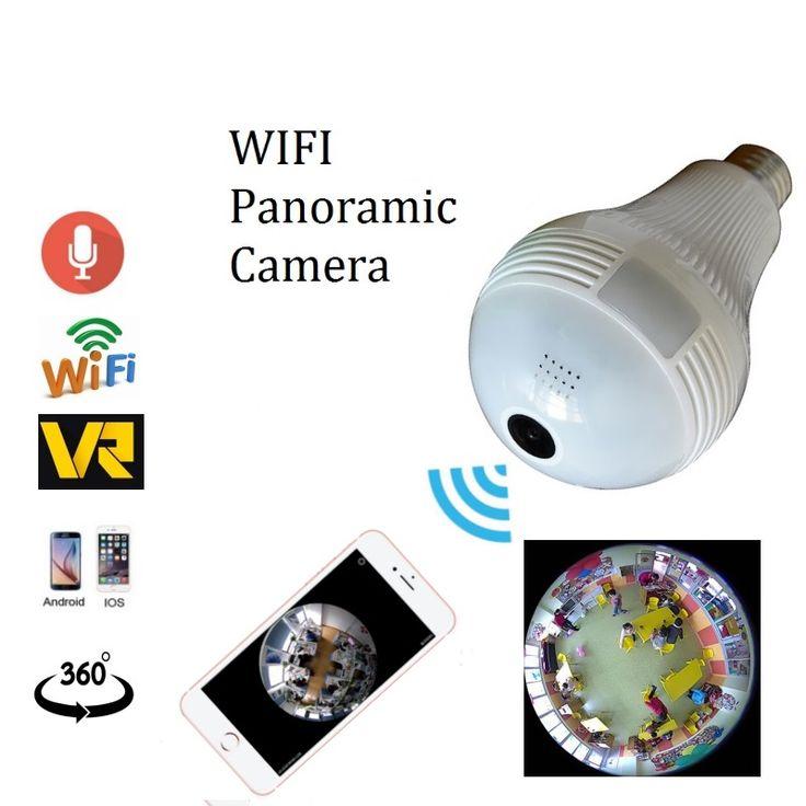 1 3MP 2 0MP wifi Panoramic 360 degree camera Wireless Light bulb Fisheye Camera cctv Smart. Click visit to buy