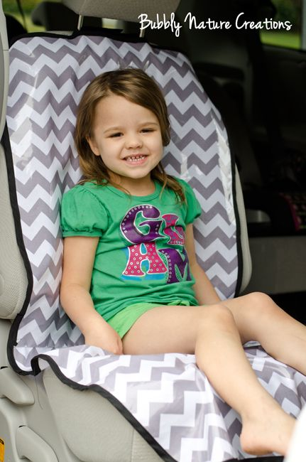 carseat protector. this is a good idea. even for trips to the lake or something like that.