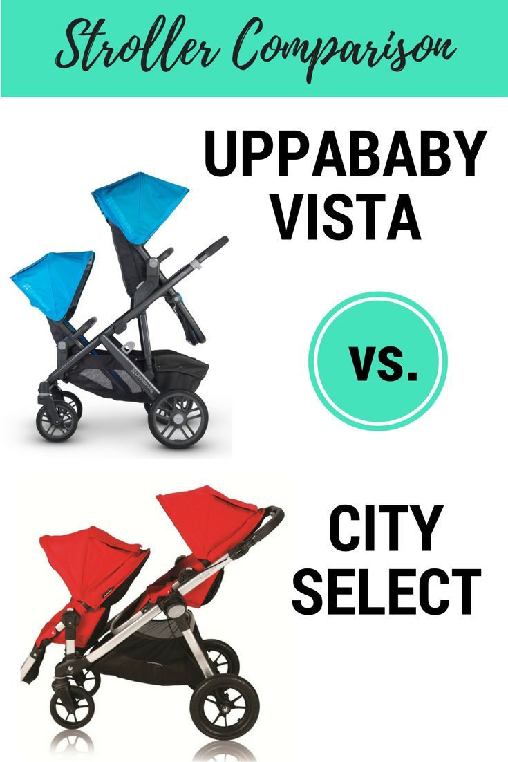UPPAbaby VISTA or Baby Jogger City Select? Strolleria helps you decide in this in-depth stroller comparison, covering pros and cons, specs, foldability, car seat compatibility and more!