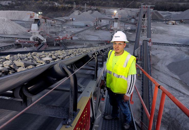 The conveyor at Lehigh Hanson's ENERGY STAR certified