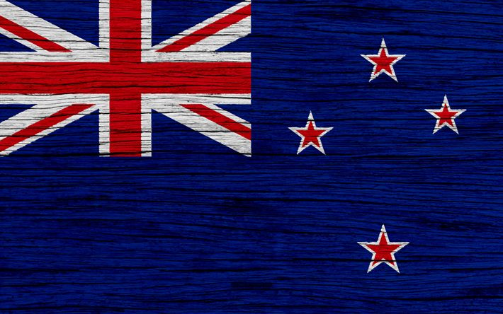 Download wallpapers Flag of New Zealand, 4k, Oceania, wooden texture, national symbols, New Zealand flag, art, New Zealand