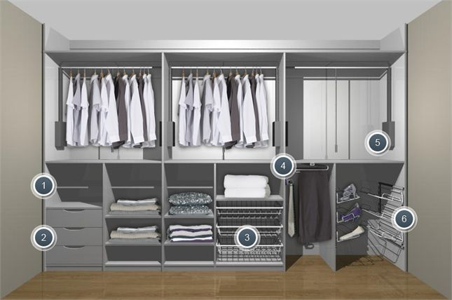 Wardrobe for disabled people or those with accessibility for Bedroom furniture storage solutions