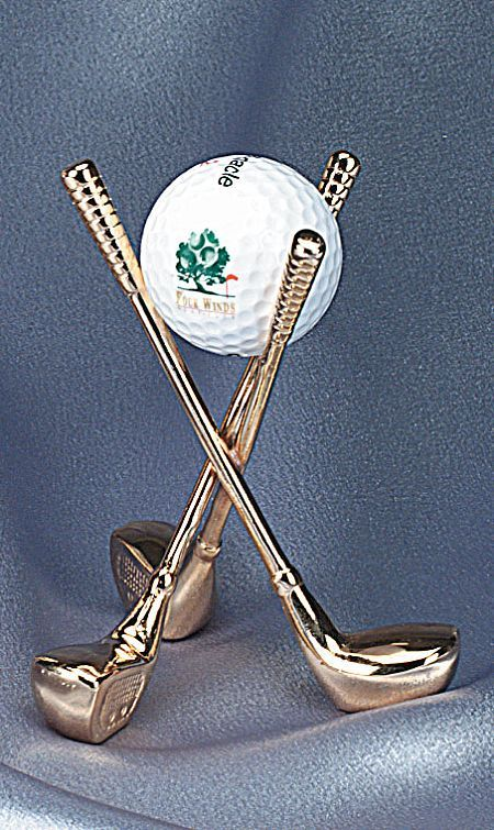 Display Stands - Golf Ball...Nice way to display that special golf ball. Would be great under a glass dome.