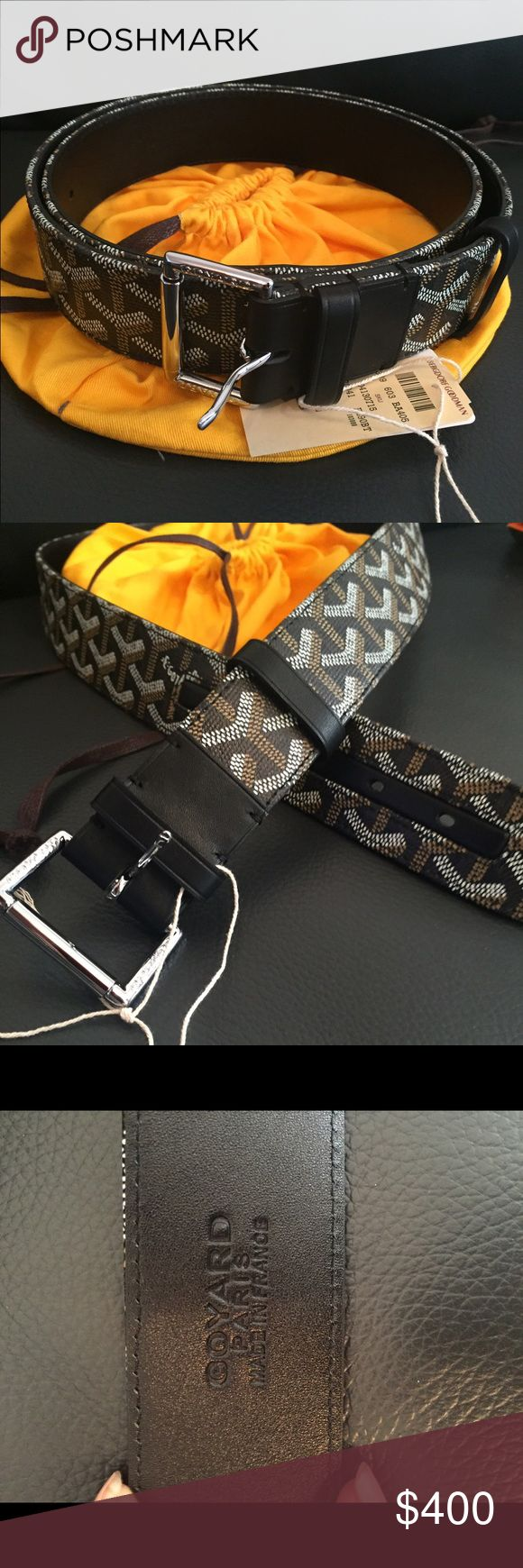 NWT Black Goyard Belt Brand new and authentic black Goyard. Comes with all original tags, and yellow Goyard pouch. Ask for size. Goyard Accessories Belts