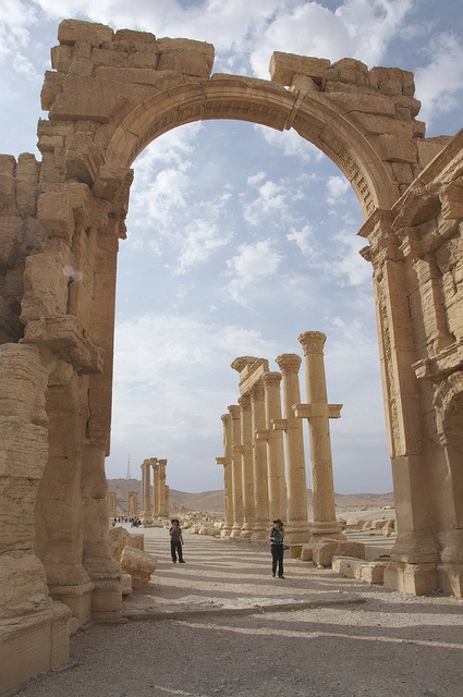 UNESCO World Heritage Site ~ Roman ruins at Palmyra, in the heart of the desert, Syria.