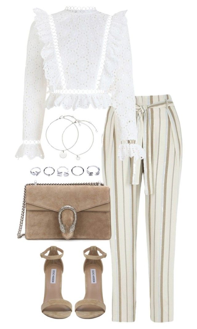 """""""Untitled #4038"""" by theeuropeancloset on Polyvore featuring River Island, Zimmermann, Steve Madden, Gucci and GUESS"""