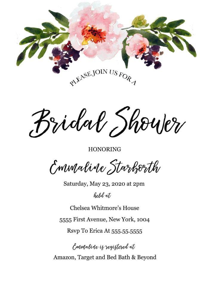 Free Wedding Shower Invitation Template Bridal Shower Invitations Free Couple Wedding Shower Bridal Shower Invitations Printable