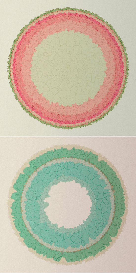 Made in Processing by Diana Lange (via design love fest)Circles Pattern, Artworks, Art Design, Graphics Design, Diana Lang, Colors Palettes, Foundation, Pattern Art, Circles Ombre