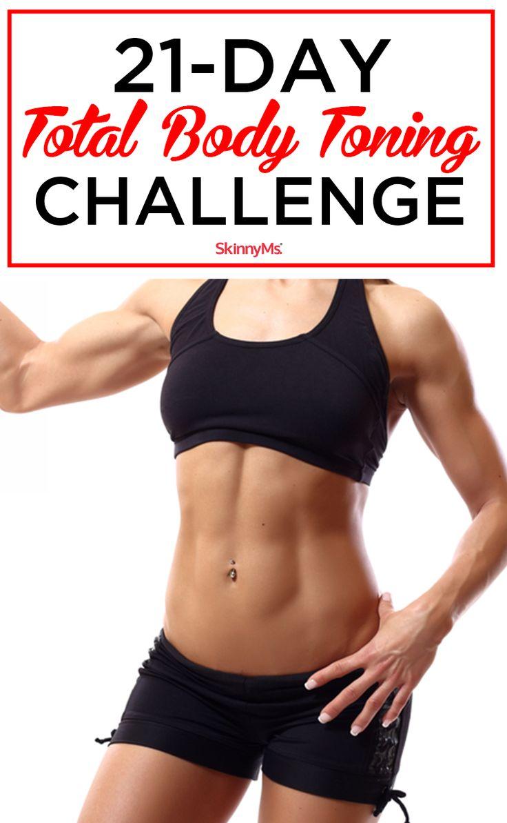 Take the 21-Day Total Body Toning Challenge! #skinnyms #totalbody #workout
