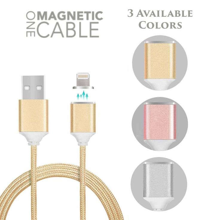 iPhone 6S 7 Magnetic Lightning Charger Nylon Braided Data Sync Cable Adapter USA #UnbrandedGeneric