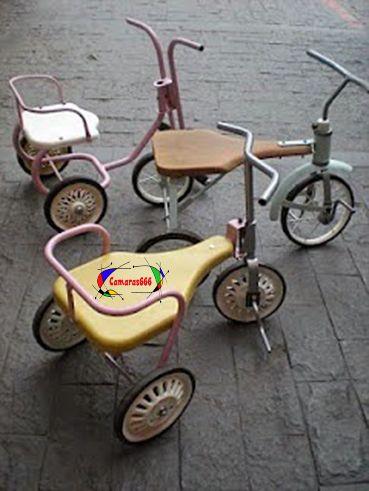 Triciclo, era lo más habitual y afortunado el que lo tenia en los años 80.