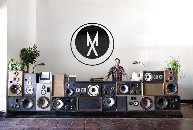 Great idea to repurpose old speakers  Mount Analog by Sit and Read