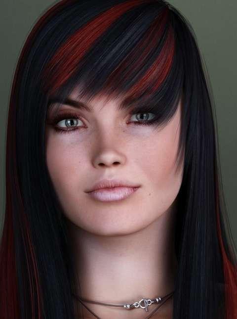 красно черные волосы фото | Фотоархив