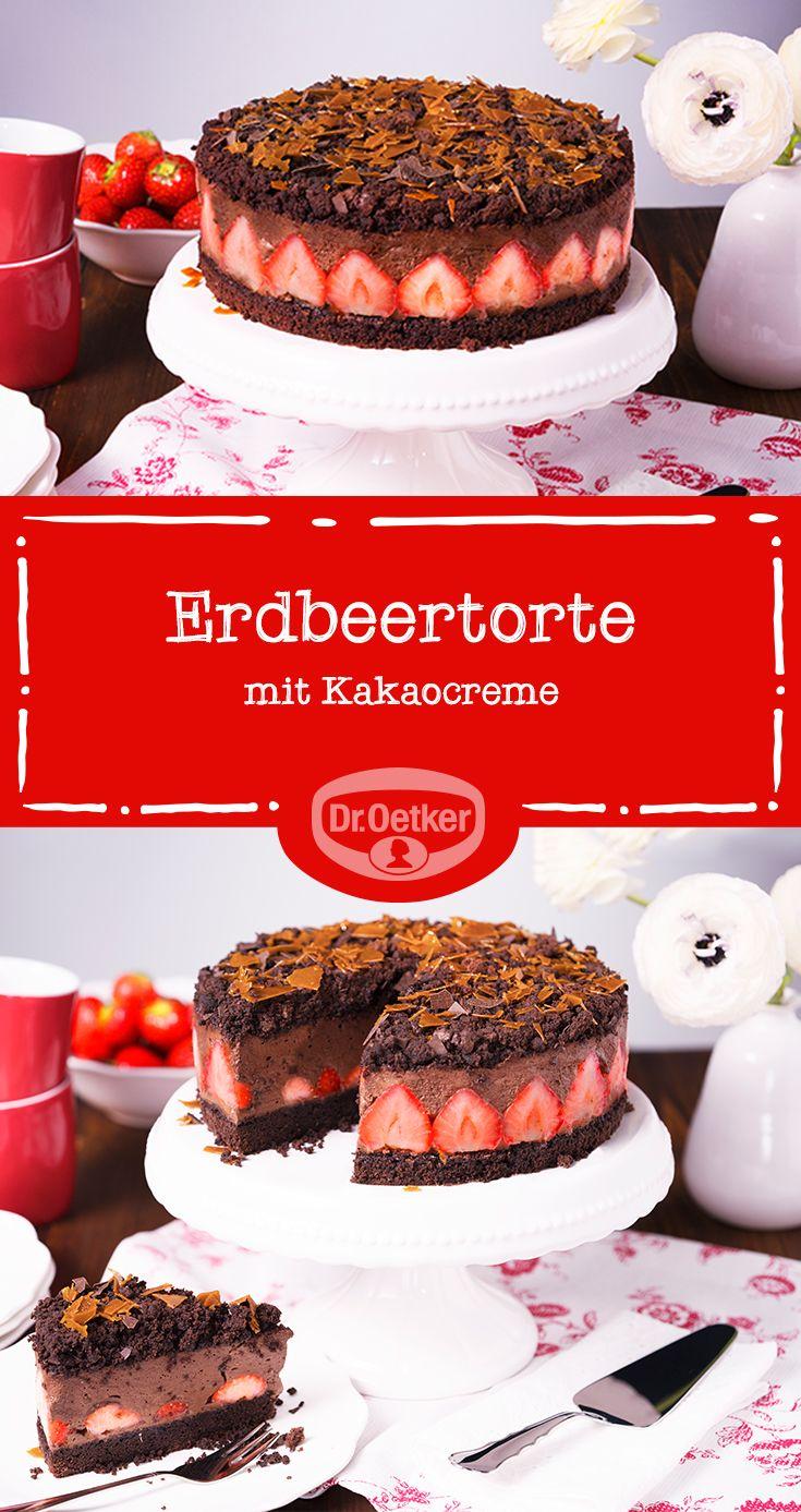 Wenn Erdbeeren und Schokolade aufeinander treffen, kann nur diese wunderbare Erdbeer-Schoko-Torte herauskommen.