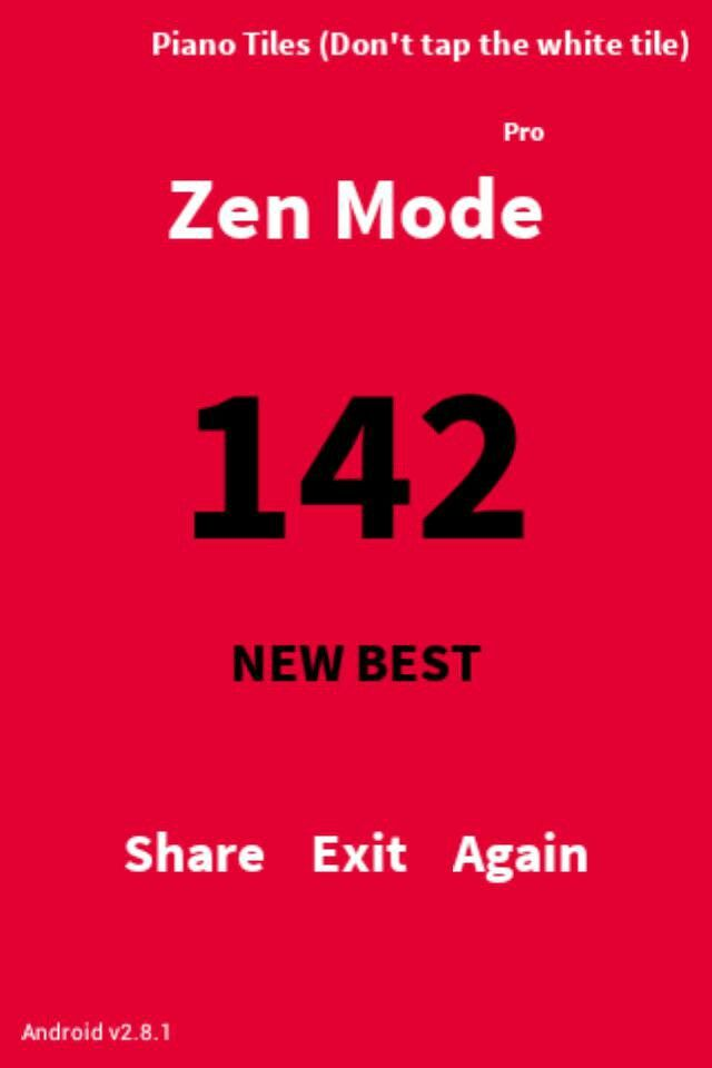 New high score in piano tiles zen mode