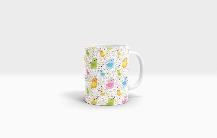 Musical Bird Mug. 11oz Ceramic Mug. by NJsBoutiqueCo on Etsy