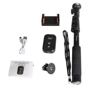 1. Extending Selfie Stick with Remote Housing Tripod Mount for GoPro