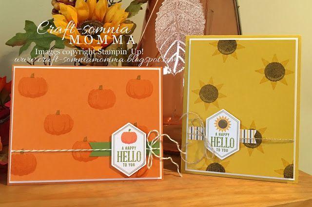 Craft-somnia Momma: Something Good to Eat ~ Monday Montage - SU - Paper Pumpkin