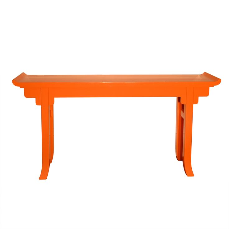 """""""Hermes Orange"""" Lacquered Console 