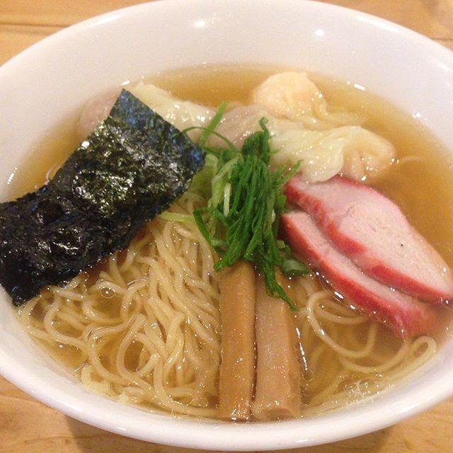 2017/04/17 #ラーメン #らーめん #白だし #特製ワンタン麺 #肉 #エビ #3個 #稲荷町 #支那そば大和