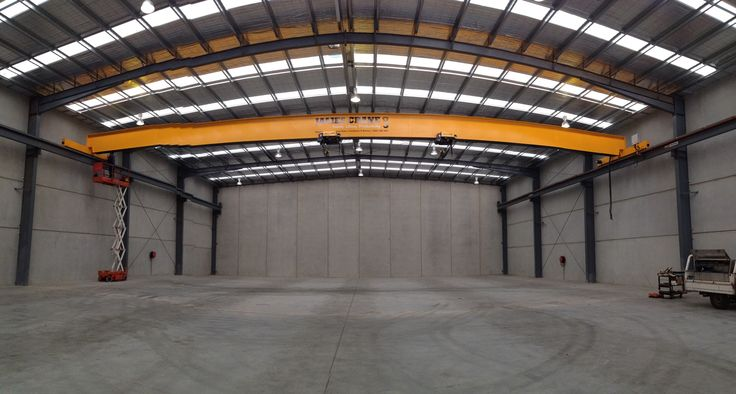Overhead crane at Rapid Steel- Premium Plate services by James Cane