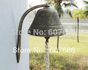 Большой Чугун Dinner Bell Добро Пожаловать Висит Колокол Западной Фермы Ранчо патио Сад Ворот Двора Дверной Звонок Большой Колокол Вне Свободный Корабль