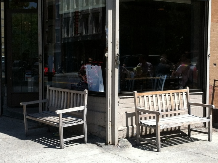Shopfront Bench in front of sNice - 315 Fifth Avenue, Brooklyn, NY 11215 - Photo: Eric McClure