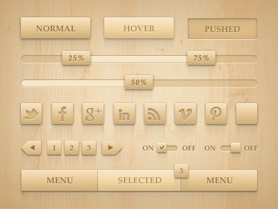 Neat wooden controls