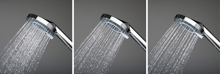Oras Optima: 3 different showers in one! Relaxing, refreshing and water saving.