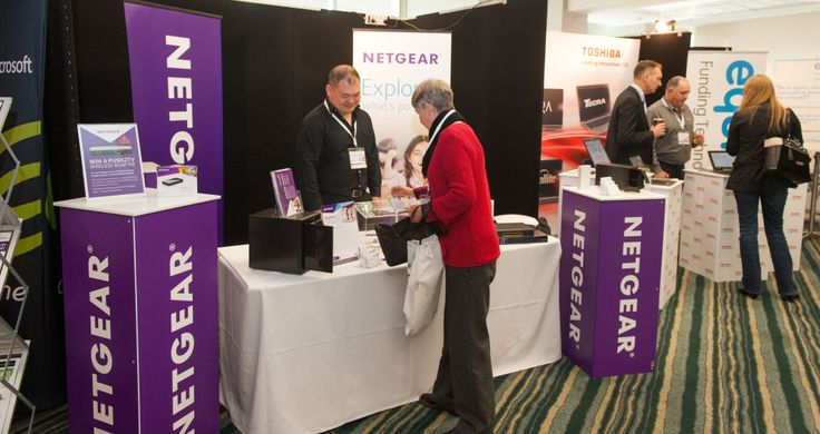NetGear stand in exhibition area