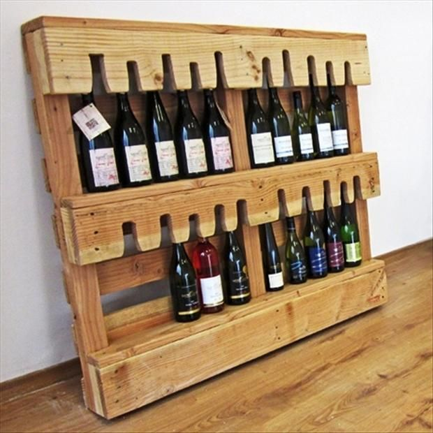 Rangement Chambre Mansardée : Wine Bottle Holder Pallet Ideas