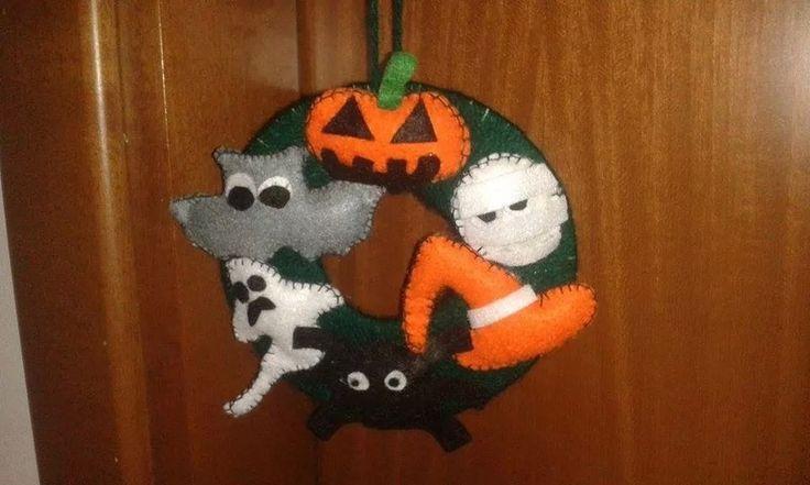 Ghirlanda di Halloween fatta a mano! di Mani di fata su DaWanda.com
