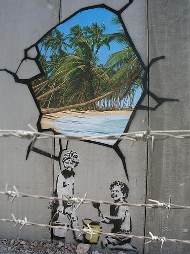 Banksy, franja de Gaza