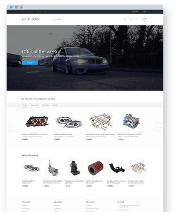 Eveprest Multipurpose PrestaShop Template Spare Parts - Home1