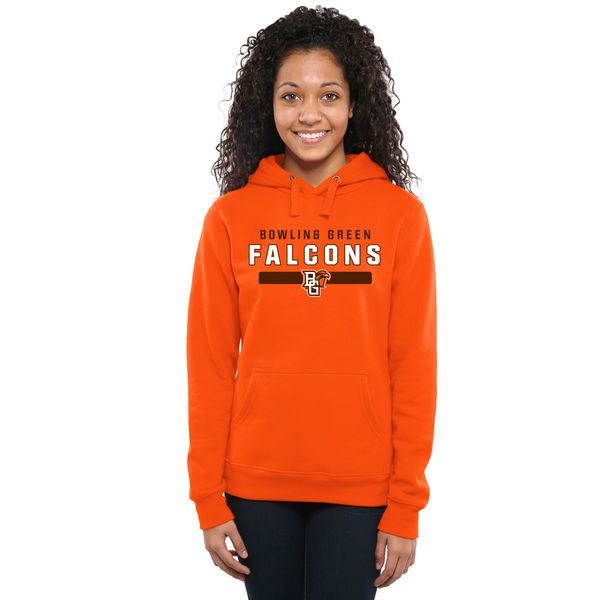 Bowling Green St. Falcons Women's Team Strong Pullover Hoodie - Orange - $44.99