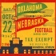 Oklahoma Football Gifts.  1949 OU vs. Neb. Ceramic drink coasters printed in the U.S.A. and shipped within 24 hours. Made from over 2,000 historic college football tickets. Best last minute Father's Day gifts.