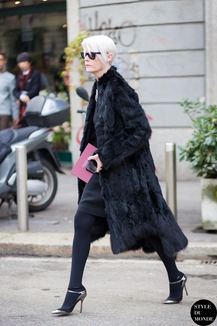 Milan Men's FW15 Street Style: Kate Lanphear 23 Jan '15 Kate Lanphear, Maxim Magazine Editor-in-Chief, before Gucci fashion show.