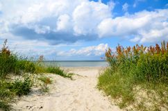 Trayectoria a la playa Imagen de archivo
