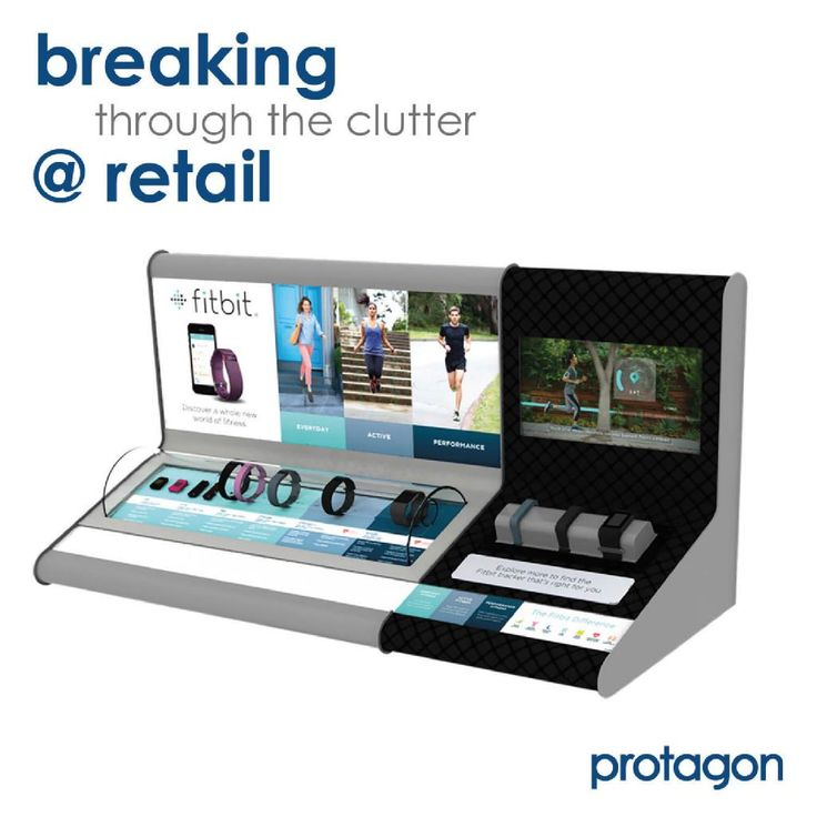 """A premium Fitbit destination. Back-lit graphics, live Product Demo Zone, and Android touch screen, helps the consumer """"Find Your Fit"""" at over 4,000 North American Retail Locations. #design #manufacture #distribute #retaildisplay #protagon www.protagon.com"""