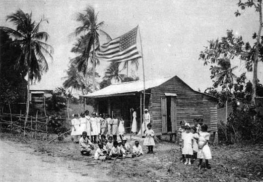 VILLAGE SCHOOL NEAR SAN JUAN, PORTO RICO.    Cumba Media :: THREE R'S IN PORTO RICO.