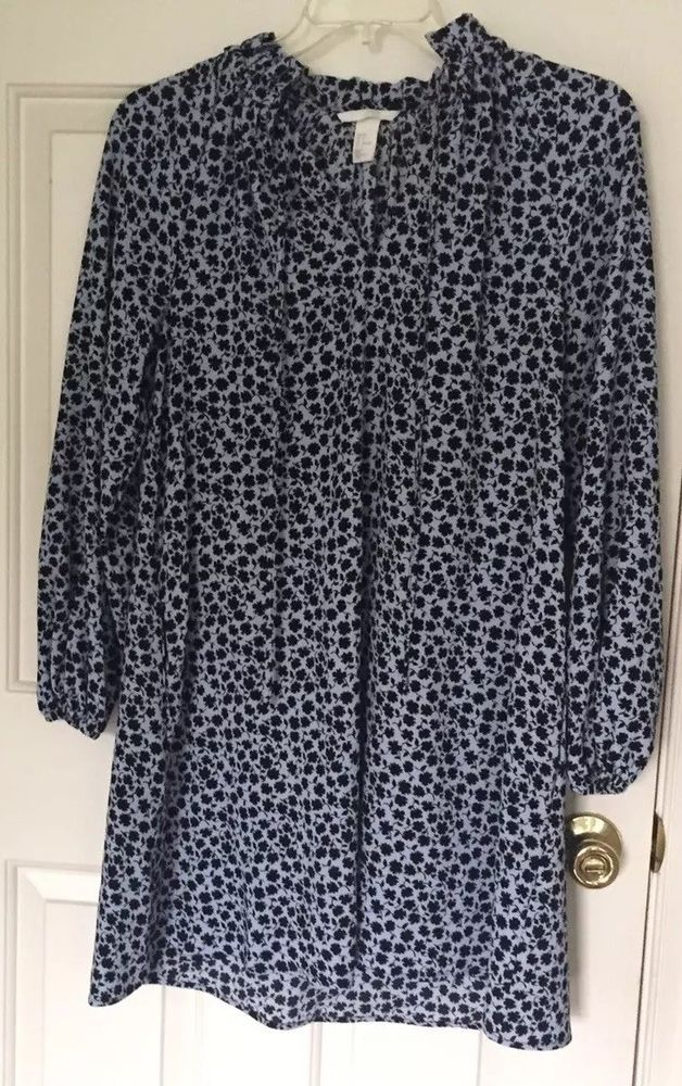 628f4e60b50 H amp M Light Blue Flora Dress- Size Medium- Excellent Condition  fashion