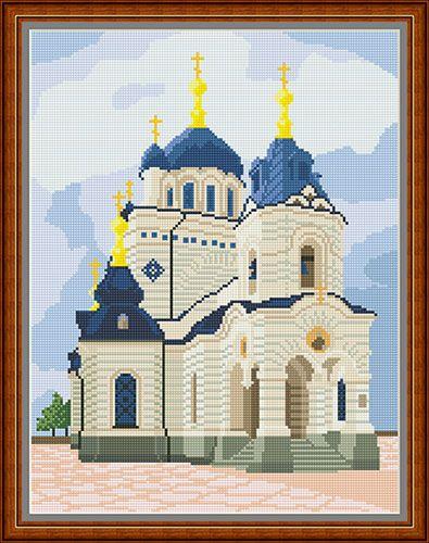 """Orlis.com.ua - эксклюзивные товары для вышивки - Рисунок-схема на ткани для вышивания бисером """"Форосская церковь"""""""