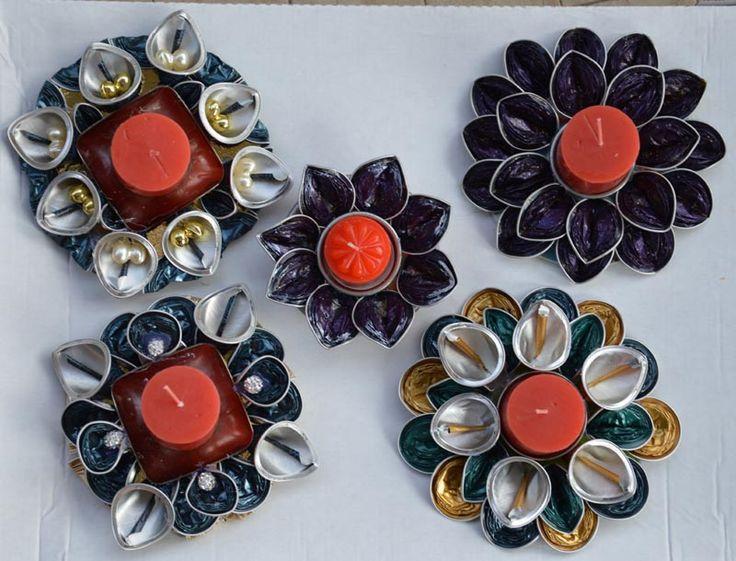 Portacandele con capsule Nespresso