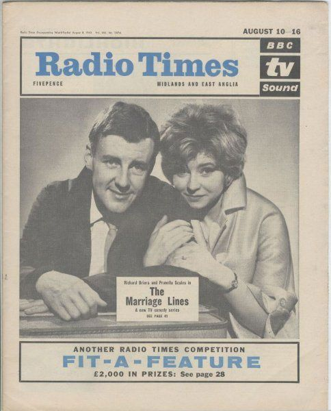 Marriage Lines, August 1963: Richard played one half of newly-married couple George and Kate Starling opposite Prunella Scales in the sitcom ...