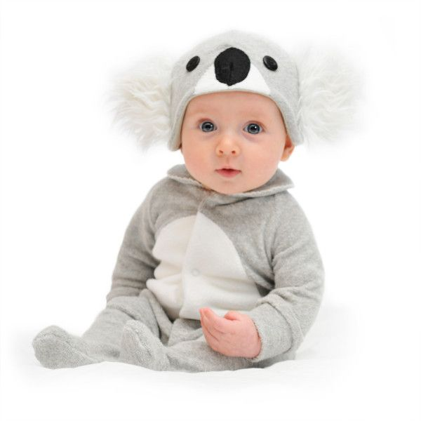 This oh so cute Lil' Koala costume and hat are made from the softest cotton blend, two-way stretch terry for your child's absolute comfort and includes all